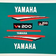 Yamaha 200 Hp 2 Stroke Outboard Marine Vinyl Stickers Decals Fast Ship