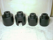 4 Vintage Snap-on 1 Drive Impact Sockets 6 Point 31/8 - 2 15/16 - 2 1/2 - 2