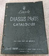 Lincoln Chassis Parts Catalogue 1936 Thru 1948 All Models