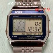 casio Ax-210 Vintage Alarm Chronograph Digital Menand039s Watch Made In Japan