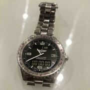 breitling A56012.1 Chronograph Space Menand039s Analog Watch Shipped From Japan