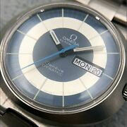 omega Geneve Dynamic Automatic Tool107 Day Date Blue St. Steel Adult Watch