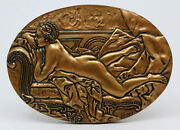Medal Bronze Big / Nude Woman / Resting Girl Louise Oandrsquomurphy 1751 / Very Rare