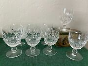 Waterford Crystal Colleen Set 4 Short Stem Water Goblets Glasses Free Shipping