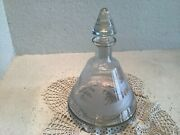 """Queen Lace Hunting Animal Deer Hand Cut Clear Decanter 7.5"""" Tall"""