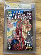 New Mutants 98 Cgc 9.6 Ss Signed Rob Liefeld X-men 1st Deadpool Direct Edition