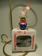 Vintage Steinbach Wooden Christmas Ornament Made In Germany - Americana Man