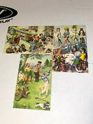 Vintage Alfred Mainzer Lot Of Cat Postcards Golfing Swimming And More