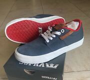 New Supra Skateboard Shoes Stacks Vulc Ii Navy/ Red-wht 08029-419 M Size 10