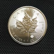 Royal Canadian Mint | Maple Leaf Coin | 1 Troy Ounce Oz Silver .9999 5 Face