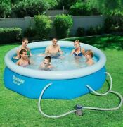 Bestway 10 Foot X 30 Inch Fast Set Swimming Pool Above Ground W/ Filter And Pump