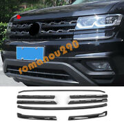 For Volkswagen Atlas 2018-2019 Gloss Black Front Center Grille Grill Cover Trim