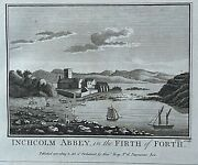 1772 Antique Print Inchcolm Abbey Firth Of Forth Scotland After Falconer
