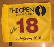 Signed Arnold Palmer Open Golf Pin Flag With Proof