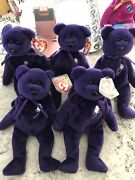 Lot Of 5 Ty Princess Diana Beanie Babies Rare Collectible