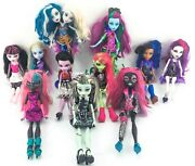 Monster High Doll Lot Of 11 Dolls Frankie Stein Catty Noir Draculaura And Others