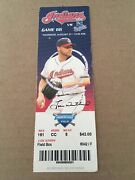 Grady Sizemore 7 Rbis Most In Career Hr 2008 8/21/08 Indians Royals Full Ticket