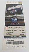 James Shields Win 50 July 4 2010 7/4/10 Twins Tampa Bay Rays Full Ticket