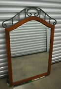 Ethan Allen Country Crossings Mirror Wall Beveled Glass Iron Maple 17-5420 227