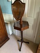 Good Quality Antique Edwardian Mahogany And Inlaid Gentlemans Shaving Stand