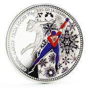 Samoa 10 Dollars From Sochi To Rio Series Skater Colored Silver Coin 2014