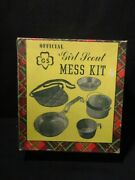 Vintage Official Girl Scout All Aluminum Mess Kit No. 15-302 In The Original Box