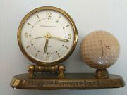 Antique Pga Hole In One Trophy. Plymouth Golf Ball Company. Clock. One Of A Kind