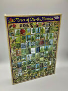 White Mountain Puzzles Trees Of North America - 1000 Piece Jigsaw Puzzle - New