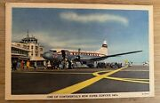 Airline - Continental Cv-340 1950's Airline Issue Postcard