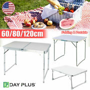Aluminum Folding Table Party Camping Table Dinner Desk Portable Office Use-3size