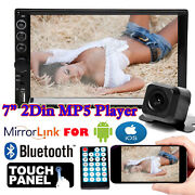 Car Stereo 2 Din Radio Hd Mp5 Touch Screen Mirror Link For Gps +sony Lens Camera