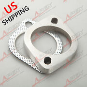 3'' Id 2 Bolt Ss304 Exhaust Downpipe Flange And Gasket Kit Turbocharger Manifold