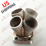 Stainless Steel 4 Cylinder Manifold Header Merge Collector T3 T3/t4 Turbo Flange