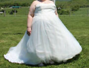 26w Wedding Dress Ball Gown Ivory White Strapless For 5 Foot 1 Inch Beautiful