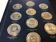 Presidential Coin Set 925 Sterling Silver In Book 36 Medals