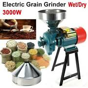 110v 3000w Electric Grinder Wet And Dry Feed/flour Mill Cereals Grain Corn Wheat