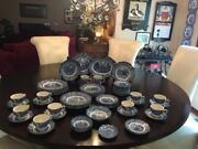 Collectiblevintage Liberty Blue Staffordshire China Colonial Scenes 60 Pcs.