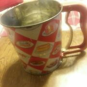 Old Androck 3 Screen Flour Sifter / Hand I Sift / Great Graphics / Bake Goods