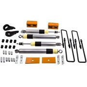 Level Lift Kit 1-3 Front 3and039and039 Rear Blocks For Gmc Sierra 1500 4wd 6-lug 1999-07