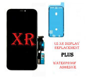 Us Iphone Xr Lcd Touch Screen Digitizer Replacement Assembly +back Plate Premium