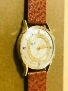 jaeger-lecoultre Memobox 14k Solid Gold Menand039s Analog Wristwatch Japan Shipped