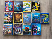 Lot Of 13 Disney Kids Blu-ray 3d Dvd Movies - Collectible