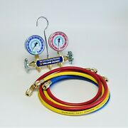 Yellow Jacket 41315 Test And Charging Manifold With 60 Hoses R134a/404a/507