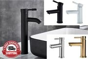 Bathroom Basin Sink Faucet Single Lever Single Handle Tap Mixer Hot Cold Water