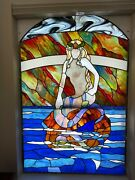 Mermaid Stained Glass Panels