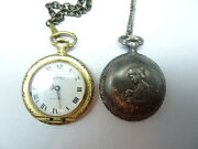 2 Chateau Antimagnetic Vintage Mechanical Windup Pocket Watches To Restore