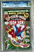 Marvel Team-up 9 Cgc 9.4 Spider-man And Iron Man - Kang Appearance