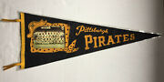 Vintage 1960 Pittsburgh Pirates Team Photo World Champs Pennant With Sleeve