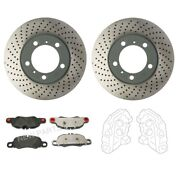 Genuine Front Brake Kit Rotors Pad And Calipers For Porsche Boxster Cayman