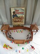 Vintage, 1970's Brumberger, Fort Cheyenne, 848, Giant Fort And Western Play Set
